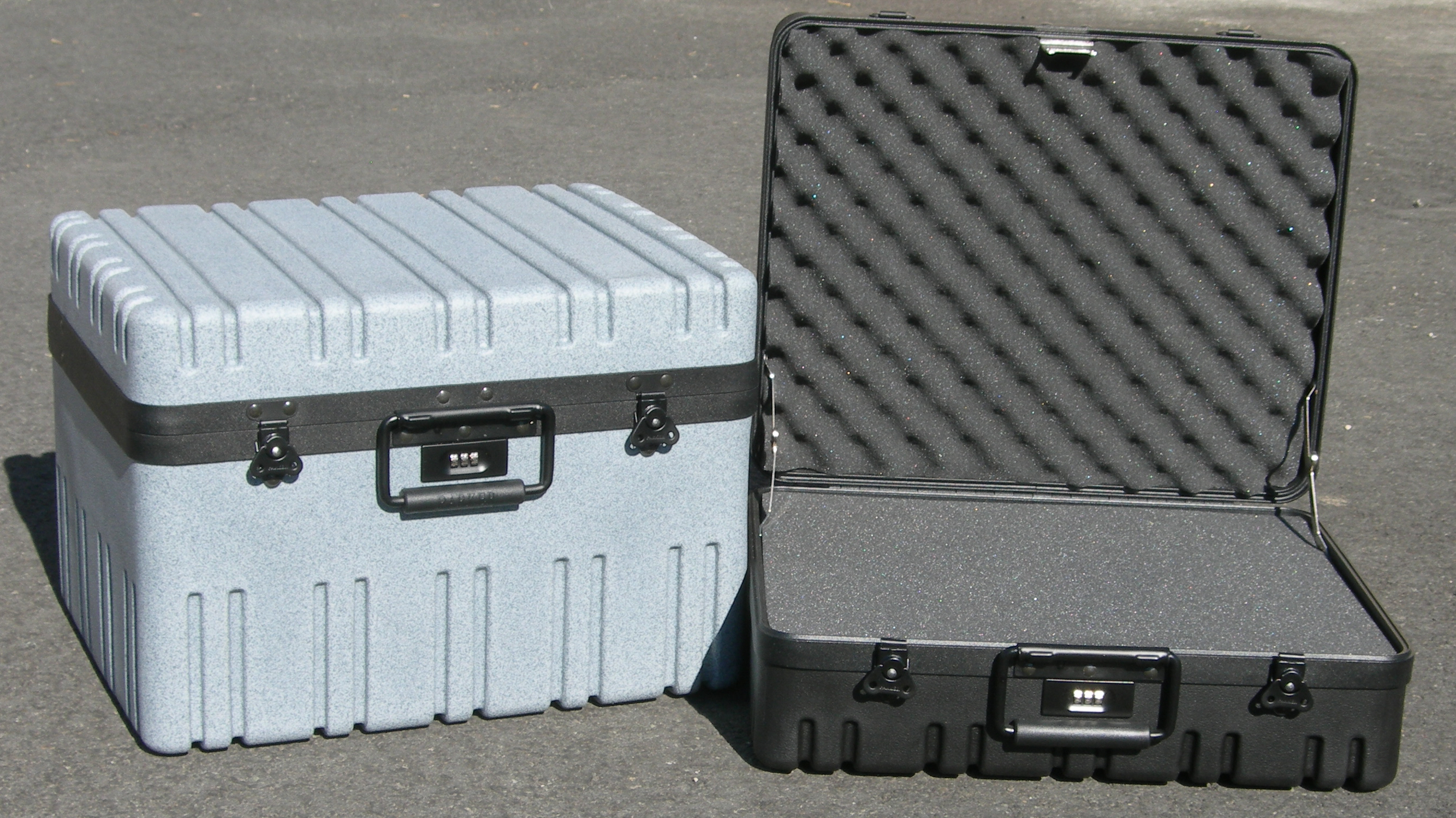 2RR toolkit cases, foam filled or empty.