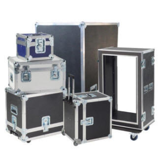 ATA cases, fabricated custom size roadie case.