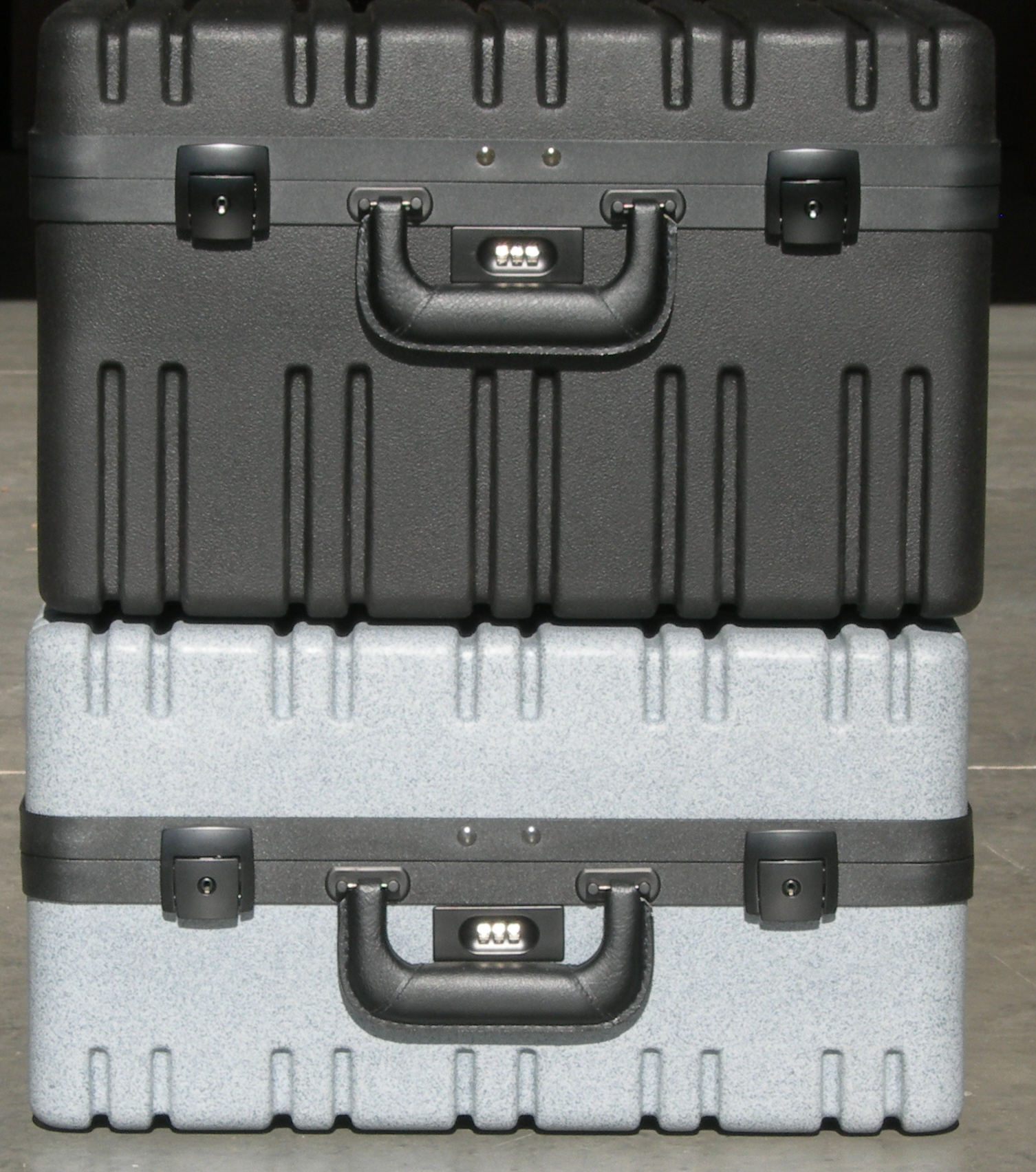 RR series Toolkit cases, empty, filled with foam, with or without Toolkit hardware.